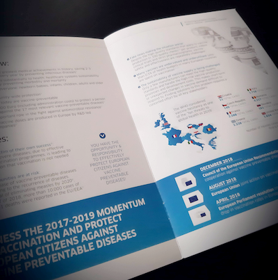DESIGN AND PRINT FOR VACCINES EUROPE